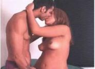 Latina-tongue-kisses,-sucks-cock-from-Latina-Sex